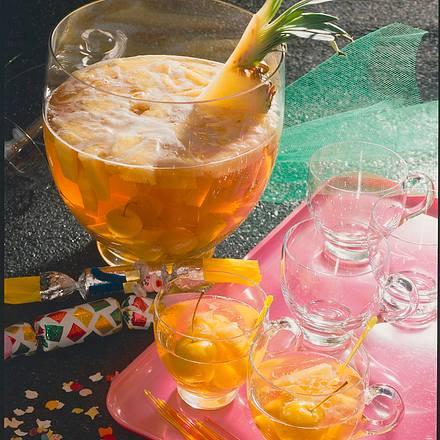 Ananas-Apfel-Bowle Rezept