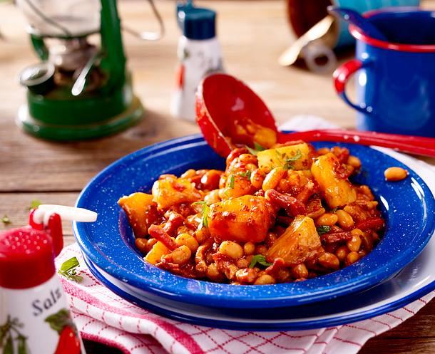 Ananas-Baked Beans Rezept