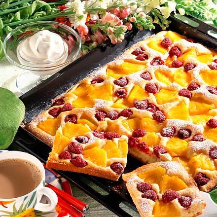 Ananas Himbeerkuchen Auf Dem Blech Rezept Lecker