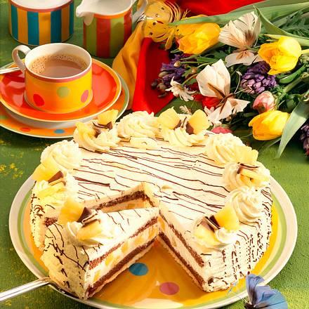 Ananas-Joghurt-Sahnetorte Rezept