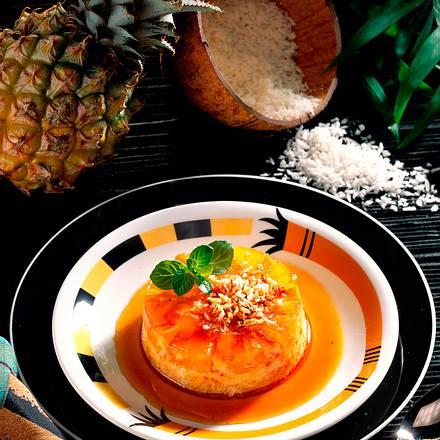 Ananas-Kokos-Flan Rezept