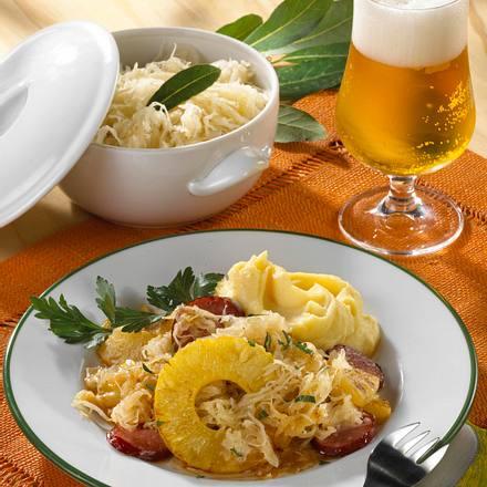 Ananas-Kraut mit Cabanossi Rezept