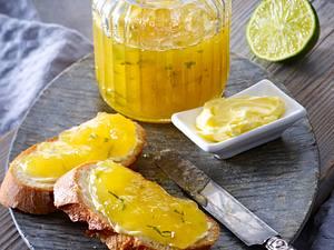 Ananas-Limetten-Konfitüre mit Minze Rezept
