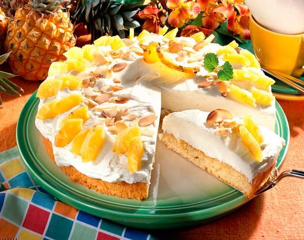 Ananas-Mandel-Torte Rezept
