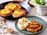 Ananas-Pancakes mit Peanut-Topping Rezept