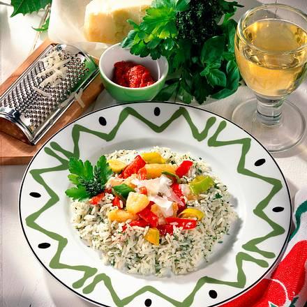 Ananas-Paprika-Gemüse auf Reis Rezept