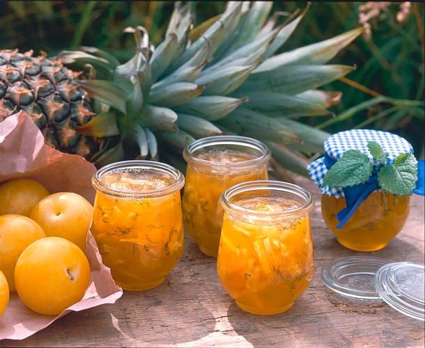 Ananas-Pflaumen-Konfitüre Rezept