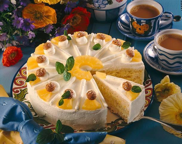 Ananas-Sahne-Torte Rezept