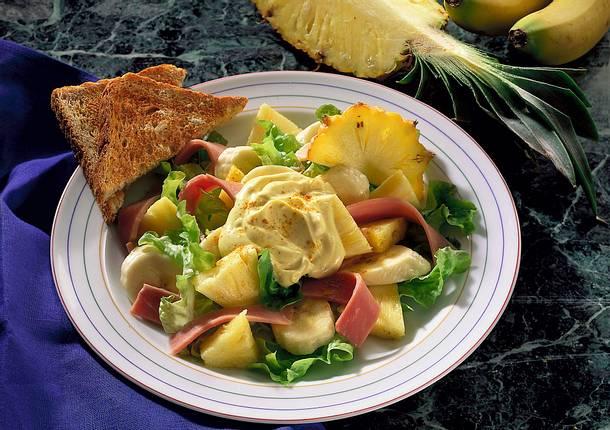 Ananas-Schinken-Salat Rezept