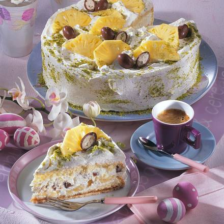 Ananas-Schokobons-Torte (frische Ananas) Rezept