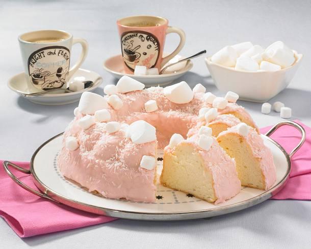 Angel Cake mit Marshmallows Rezept