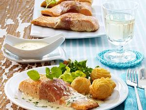 Anglerschmaus mit Zitronenmelisse-Soße Rezept