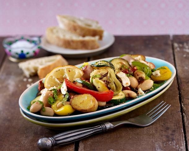 Antipasti-Salat aus dem Ofen Rezept