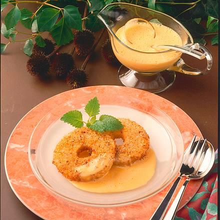 Apfel-Beignets mit Sanddorn-Honig-Schaum Rezept