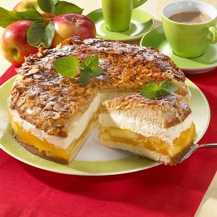 Apfel-Bienenstich-Torte Rezept