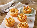 Apfel-Blätterteig-Rosen Rezept