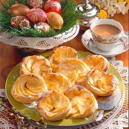 Apfel-Blätterteig-Taler Rezept