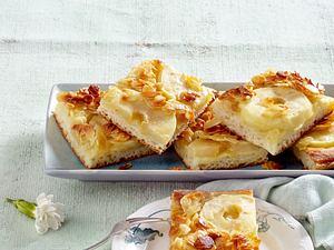 Apfel-Butterkuchen mit Florentiner-Mandelkruste Rezept