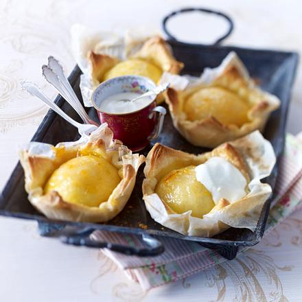 Apfel-Calvados-Küchlein Rezept