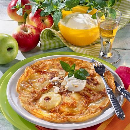 Apfel-Calvados-Pfannkuchen Rezept