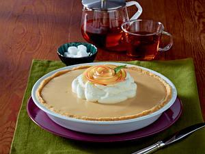 Apfel-Cidre-Pie mit Sahne Rezept