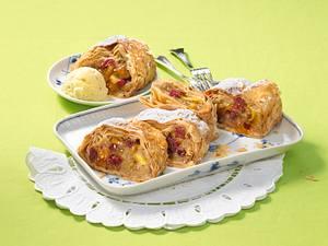 Apfel-Cranberry-Strudel Rezept