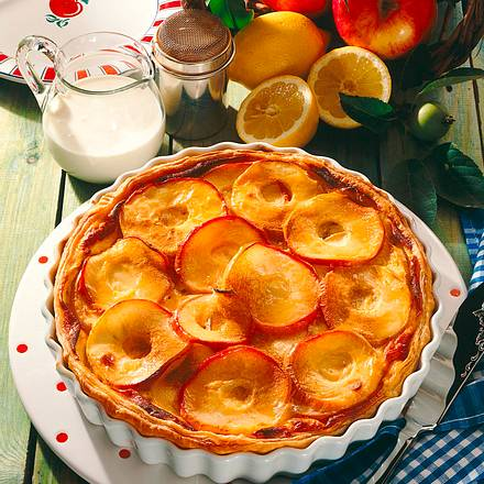 Apfel-Custard Rezept