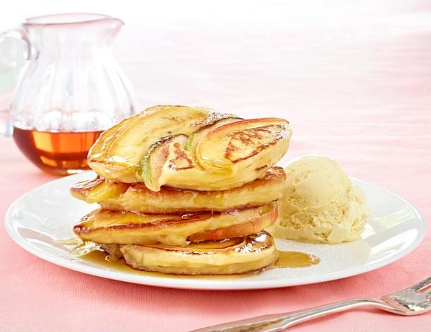 Apfel-Feigen Pancakes