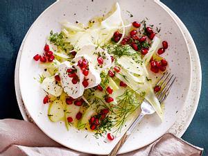 Apfel-Fenchel-Salat mit Ziegenkäse Rezept