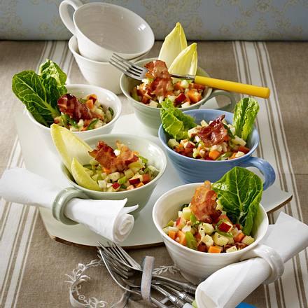 Apfel-Fenchel-Speck-Salat in Tassen Rezept