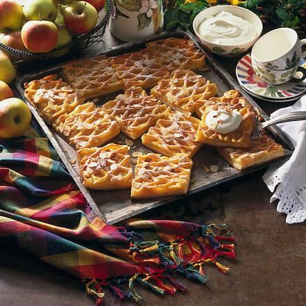 Apfel-Gitter-Blechkuchen Rezept