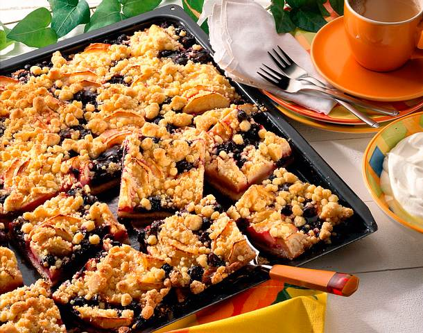 Apfel-Heidelbeer-Kuchen Rezept