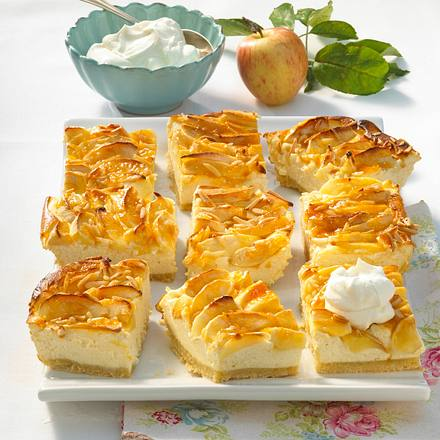 Apfel-Käsekuchen vom Blech Rezept