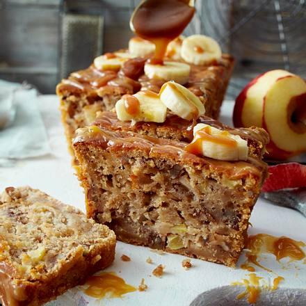Apfel-Karamell-Bananen-Brot Rezept