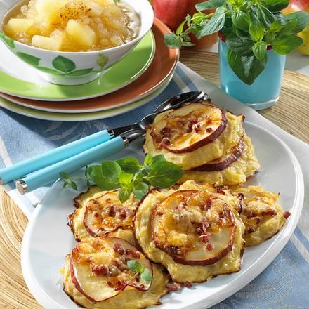 Apfel-Kartoffel-Puffer vom Blech Rezept