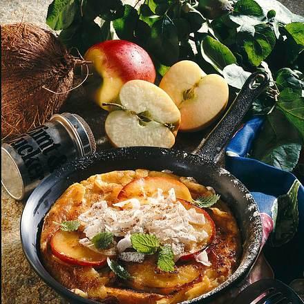 Apfel-Kokos-Pfannkuchen Rezept