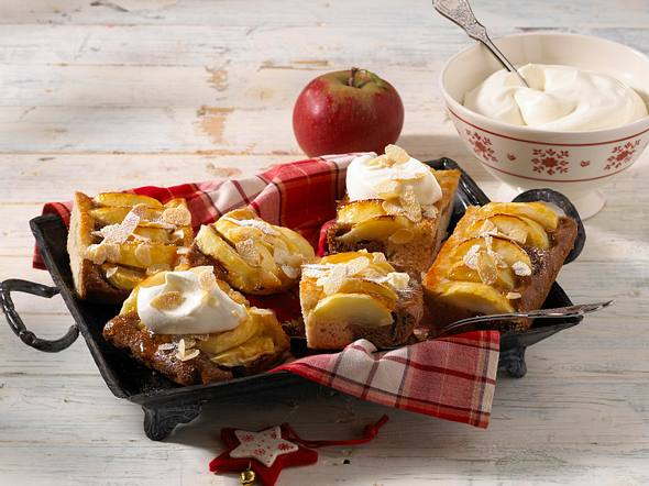 Apfel-Lebkuchen-Schnitten Rezept