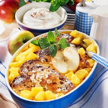 Apfel-Michel mit Rosinenbrot Rezept