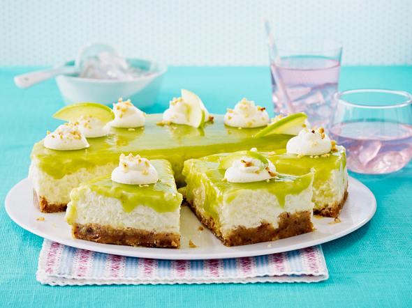 Apfel-Milchreistorte mit grüner Haube Rezept
