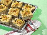 Apfel-Minze-Mohn-Blechkuchen mit Streuseln Rezept