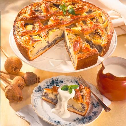 Apfel-Mohn-Gitterkuchen Rezept