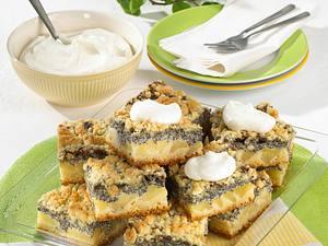 Apfel-Mohn-Kuchen mit Butter-Streuseln Rezept