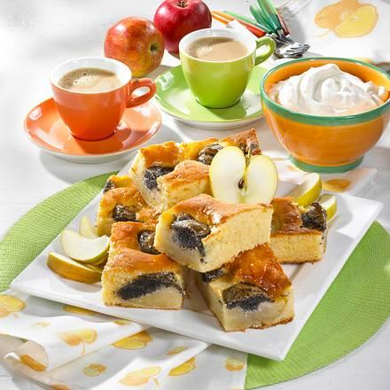Apfel-Mohnkuchen vom Blech Rezept