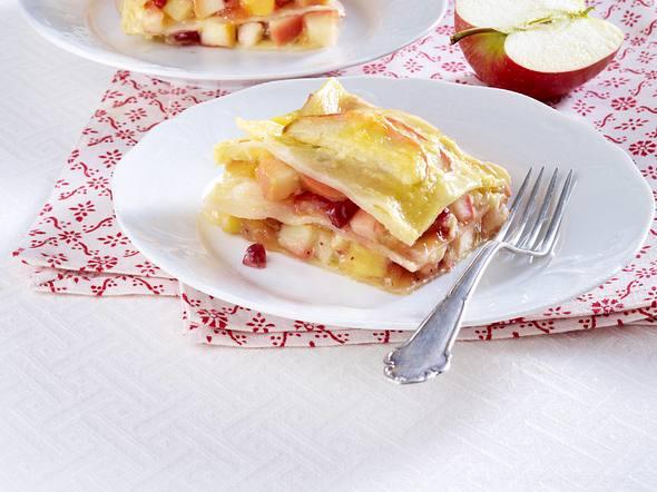 Apfel-Preiselbeer-Lasagne Rezept