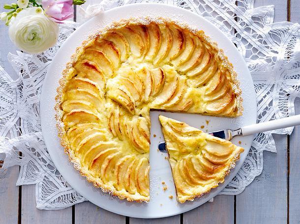 Apfel-Pudding-Tarte Rezept