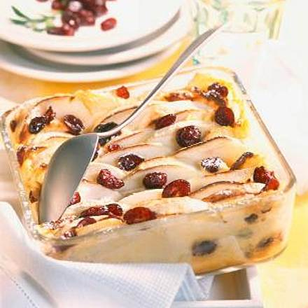 Apfel-Quark-Auflauf mit Cranberries Rezept