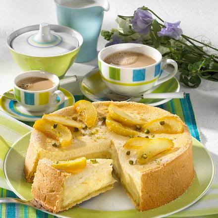 Apfel-Quark-Kuchen mit Pistazien Rezept