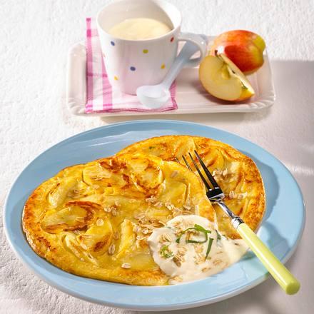 Apfel-Quark- Pfannkuchen Rezept