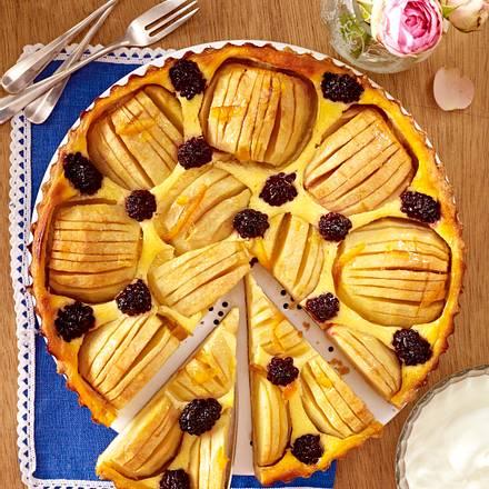 Apfel-Quarktarte mit Brombeeren Rezept