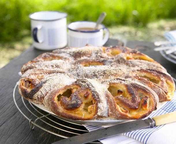 Apfel-Rosettenkuchen Rezept